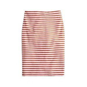 J. Crew No. 2 Pencil Skirt Striped 6